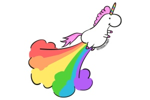 Unicorn-Flying-Rainbow-Fart-Cloud, courtesy of Eye Candy by Referral Candy (Creative Commons)